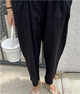Lace Summer Pants (Black/White) (will ship within 1~2 weeks)