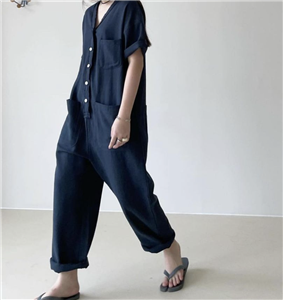 V Neck JumpSuit (will ship within 1~2 weeks)
