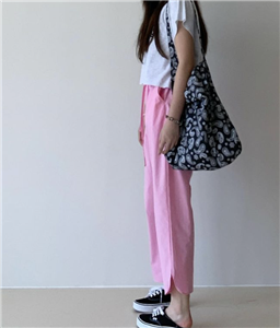 Pink Cotton Pants (will ship within 1~2 weeks)