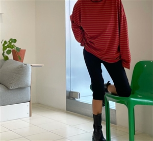 Black Skinny Half Pants (S/M/L) (will ship within 1~2 weeks)