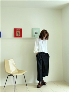 Black Wide Wrap Pants (will ship within 1~2 weeks)