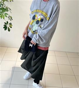 Khaki Skirt Pants (will ship within 1~2 weeks)