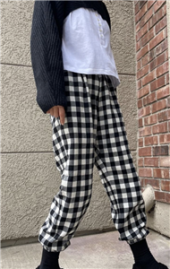 Black Gingham Check Pants (will ship within 1~2 weeks)