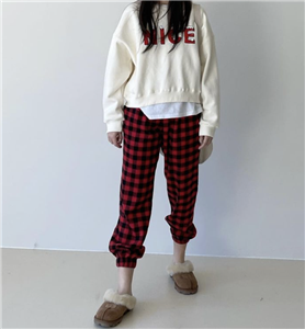 Red Gingham Check Pants (will ship within 1~2 weeks)