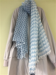 (Pre-Order) Leaf Scarf (Gray/Beige/Blue) (will ship within 1~2 weeks)