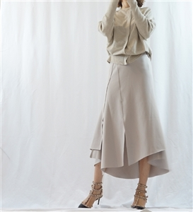 (Best; Back-Order; 2nd Reorder) Gray Stylish Skirt (will ship within 1~2 weeks)