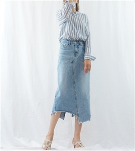 (Pre-Order) Unbalanced Jean Skirt (S/M) (will ship within 1~2 weeks)