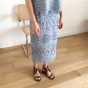 (Pre-Order) Blue Lace Skirt (S/M) (will ship within 1~2 weeks)