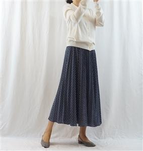 (Best; 3rd Reorder) Blue Luxury Print Skirt