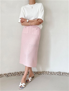Tweed Skirt (Pink/Mint) (will ship within 1~2 weeks)