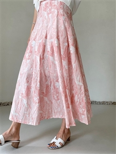 Print Skirt (Pink/Beige) (S/M) (will ship within 1~2 weeks)