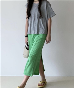 Green Banding Skirt (will ship within 1~2 weeks)