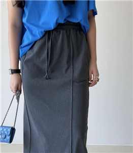 Black Banding Skirt (will ship within 1~2 weeks)