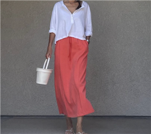 Red Banding Skirt (will ship within 1~2 weeks)