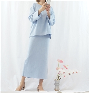 (Pre-Order) SkyBlue Top and Skirt Set (will ship within 1~2 weeks)