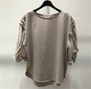 (Pre-Order) Ruffle Detail Blouse (Ivory/Beige/Black) (will ship within 1~2 weeks)