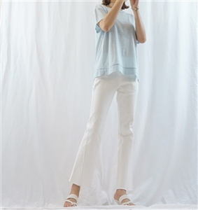 (Pre-Order) SkyBlue Pure Linen Top (will ship within 1~2 weeks)