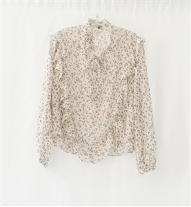 (Pre-Order) Ivory Flower Blouse (will ship within 1~2 weeks)