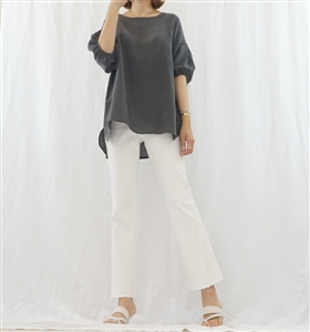 (Pre-Order) Charcoal Puff Sleeve Top (will ship within 1~2 weeks)