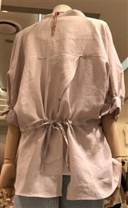 (Pre-Order) Back Tied Linen Blouse (Ivory/Pink/SkyBlue/Green/Navy) (will ship within 1~2 weeks)