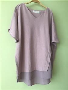 (Pre-Order) IndiPink Chiffon Layered Top (will ship within 1~2 weeks)
