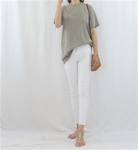 (Best; 2nd Reorder) Khaki Vintage Cotton Top