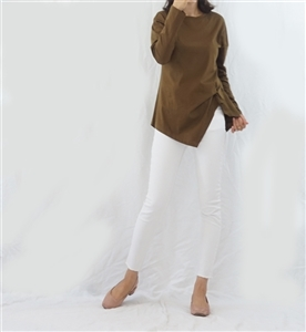 (Pre-Order) Khaki Side Twisted Top (will ship within 1~2 weeks)
