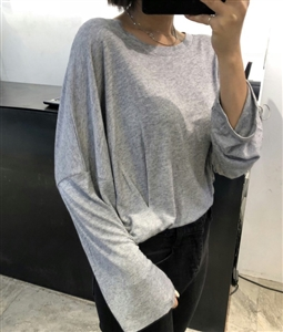 (Pre-Order) Gray Unique Side Pintuck Top (will ship within 1~2 weeks)