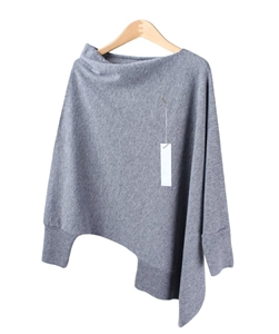 (~9/19) Cashmere Unbalanced Knit (Brown/Black/Gray) (will ship within 1~2 weeks)