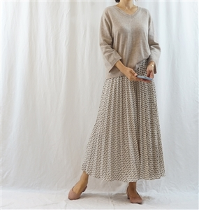 (Pre-Order) Wide Sleeve Knit (Oatmeal/Gray) (will ship within 1~2 weeks)