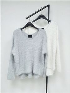 (~11/13) Mink Top (Ivory/Gray) (will ship within 1~2 weeks)
