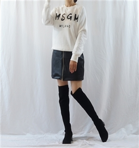 (Best; Back-Order) MSGM Kimo MTM T (Ivory/Gray/Navy) (will ship within 1~2 weeks)