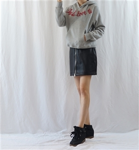 (~02/10) Just love you Hoodie (Ivory/Gray/Black) (will ship within 1~2 weeks)
