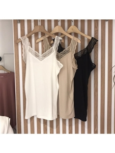 Lace Sleeveless Top (Ivory/Beige/Black) (will ship within 1~2 weeks)