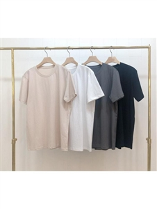 Basic T (Black/White/Beige/Gray) (will ship within 1~2 weeks)