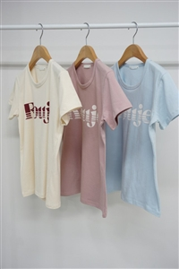 Rouje Top (Ivory/Pink/Sky) (will ship within 1~2 weeks)
