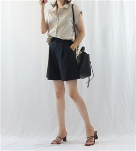 Linen Cotton Lux Shirt (Beige/Gray/Brown) (will ship within 1~2 weeks)