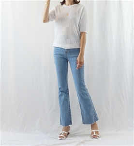 Reverse Knit Top (Beige/Brown/Mint/Purple/Ivory) (will ship within 1~2 weeks)