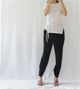 Side Unbalanced String T (Ivory/Black/Beige) (will ship within 1~2 weeks)
