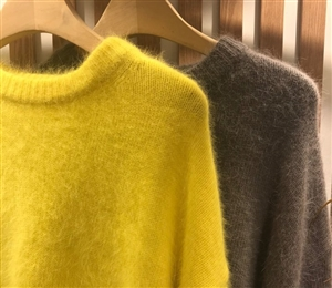 Angora Knit (Yellow/Gray) (will ship within 1~2 weeks)
