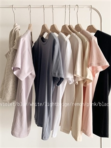 Must Have Good Cotton T (Black/Lemon/Blue/Beige/Lavender/Pink/White) (will ship within 1~2 weeks)