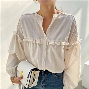 FW New Arrival Isabel Blouse (Ivory) (will ship within 1~2 weeks)