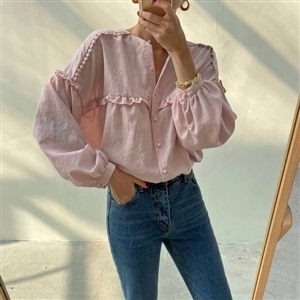 FW New Arrival Isabel Blouse (Pink) (will ship within 1~2 weeks)