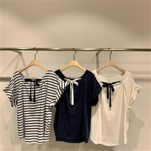 Ivory Back Ribbon T (will ship within 1~2 weeks)