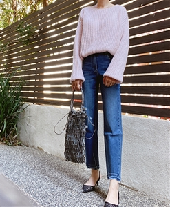 Pink Vanessa Knit (Blue/Gray/Pink/Violet) (will ship within 1~2 weeks)