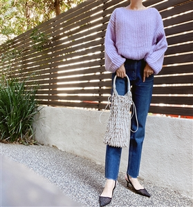 Violet Vanessa Knit (Blue/Gray/Pink/Violet) (will ship within 1~2 weeks)