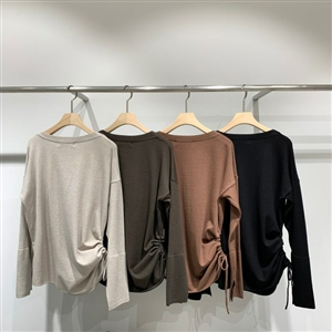 Unique side and Sleeve Knit (Black/Brown) (will ship within 1~2 weeks)