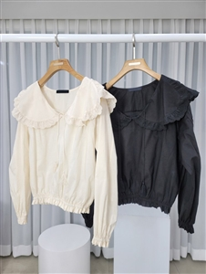 Chloe Blouse (Black/Beige) (will ship within 1~2 weeks)