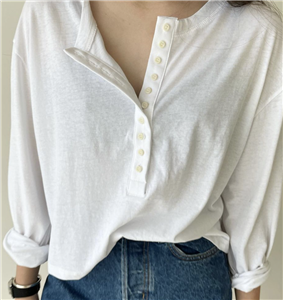 White Button T (will ship within 1~2 weeks)