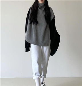 Gray Open Knit Vest (will ship within 1~2 weeks)